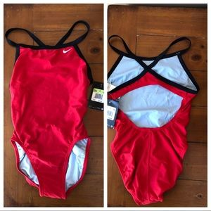 NWT Nike Swimsuit Red/Navy